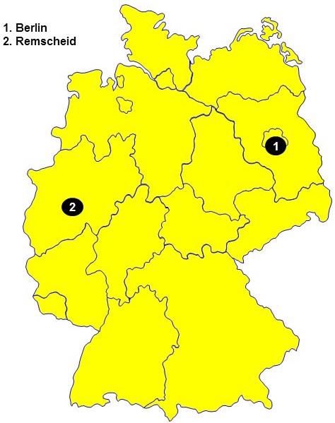 nico europe unternehmen company standorte locations deutschlandkarte umrisse mit standorten in berlin und remscheid