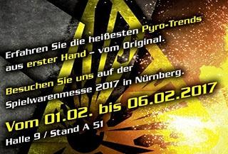 nico europe aktuelles gelbes explosiv-warnzeichen auf grauem grund neben explosion, darüber text