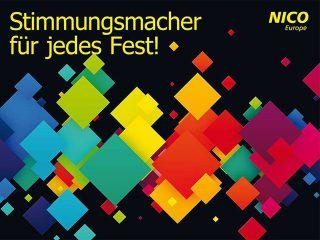 nico europe news aktuelles partykatalog 2016 catalogue for party articles 2016 cover stimmungsmacher fuer jedes fest