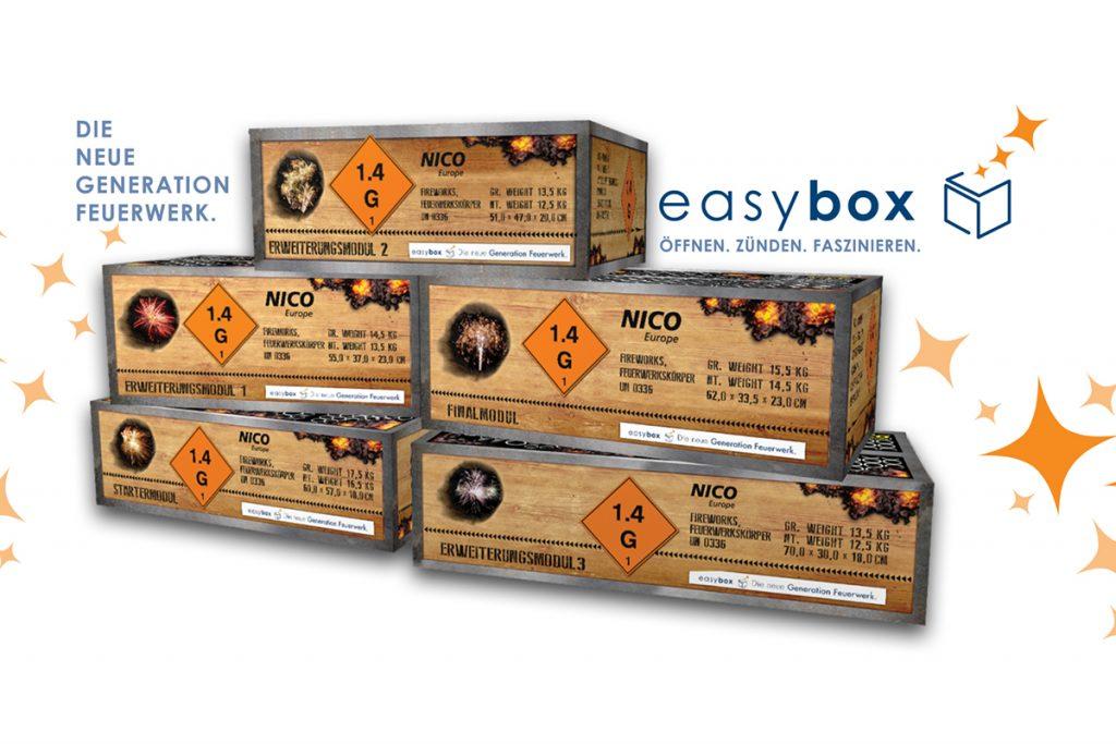 easybox module gestapelt