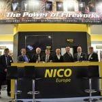 nico europe news messen trade fairs foto von nico europe messestand mit personal und geschäftsführer michael kandler rechts im bild