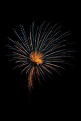 nico europe feuerwerke fireworks japantag japan day goldener aufstieg zu goldenen und blauen funkeneffekten mit goldenem zentrum am himmel