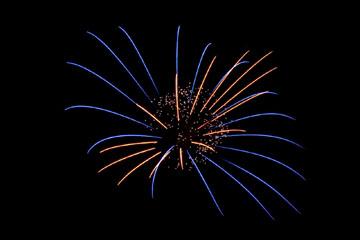 nico europe feuerwerke fireworks japantag japan day funkeneffekt am Himmel in rot und blau mit blinksternen
