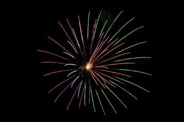 nico europe feuerwerke fireworks japantag japan day feuerwerkseffekt in grün, pink und orange