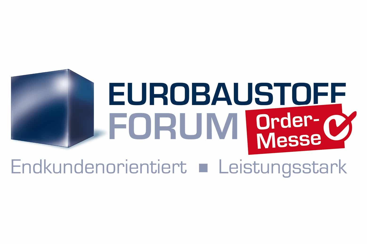 "nico europe news messen trade fairs logo von messe ""eurobaustoff-forum"""