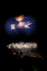 nico europe feuerwerke fireworks rhein in flammen rhine in flames feuerwerkseffekte in silber, blau und gold