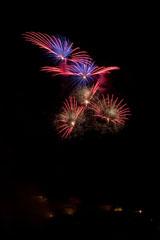 nico europe feuerwerke fireworks rhein in flammen rhine in flames rot-blaue Waserfalleffekte am himmel