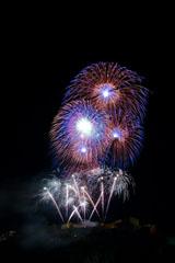 nico europe feuerwerke fireworks rhein in flammen rhine in flames silberne und rosa aufstiege zu gigantischen, kugelförmigen rieseneffekten in rot, blau und silber