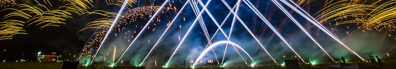 nico europe hoffest 2016 sliderbild abschlussfeuerwerk silberne und goldene gefächerte effekte
