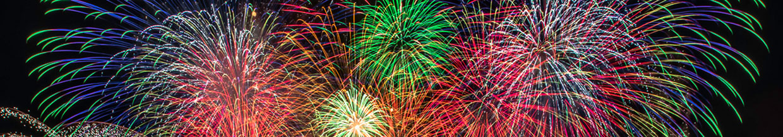 nico europe hoffest 2015 abschlussfeuerwerk gigantische sterneffekte in rot, blau, grün, orange, silber, gold und lila