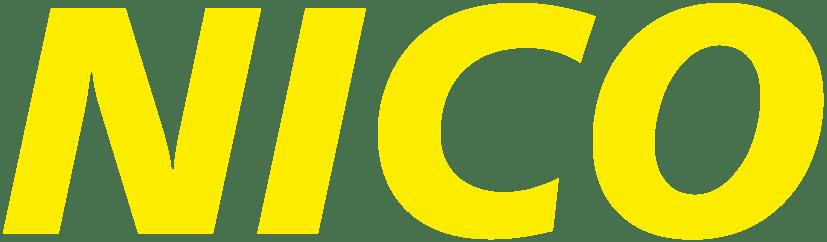nico europe logo gelbe großbuchstaben