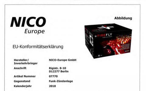 07770 EU-Konformitätserklärung FireFly Funk-Zündanlage